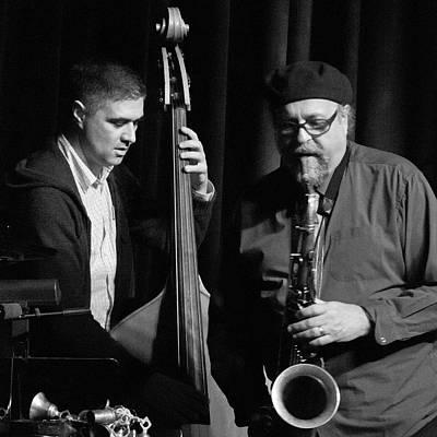 Photograph - Peter Slavov And Joe Lovano 2 by Lee Santa