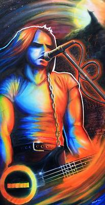 Spraypaint Painting - Peter Steele by Cobb Family Art