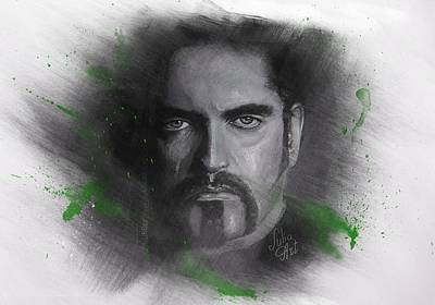 Bass Player Drawing - Peter Steele, Type O Negative by Julia Art