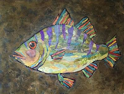 Painting - Peter The Perch by Phiddy Webb