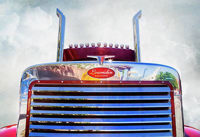 Photograph - Peterbilt Lowridin Edition by Theresa Tahara