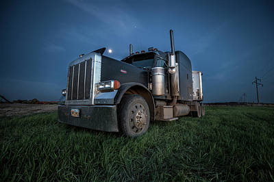 Photograph - Peterbilt Moon by Aaron J Groen