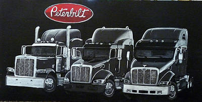 Painting - Peterbilt Trucks by Richard Le Page