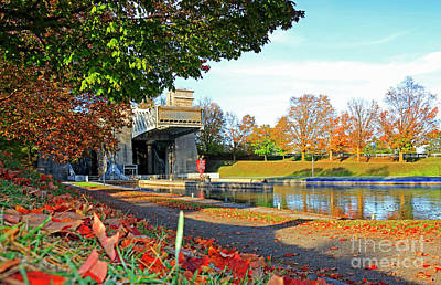 Photograph - Peterborough Lift Lock National Historic Site Canada by Charline Xia