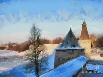 Pyrography - Peterburg Russia Pskov by Yury Bashkin