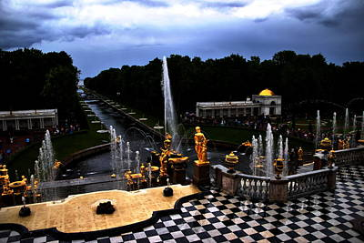Photograph - Peterhof Grand Cascade by Jacqueline M Lewis