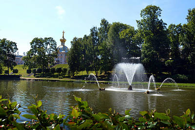 Photograph - Peterhof Lower Garden. by Terence Davis