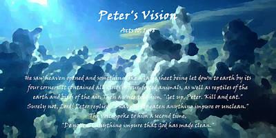 Jehova Digital Art - Peter's Vision by Alexis Moreno Plariza