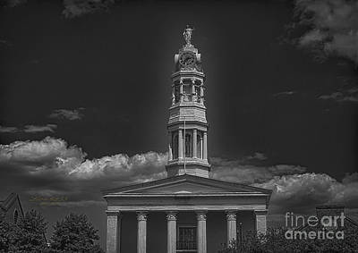 Photograph - Petersburg Virginia Courthouse Steeple by Melissa Messick