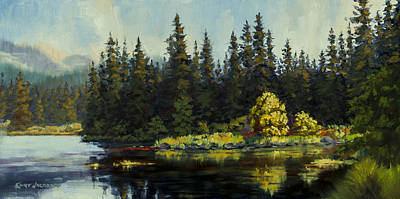 Painting - Peterson Lake by Kurt Jacobson