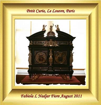 Louvre Mixed Media - Petit Curio Le Louvre by Fabiola L Nadjar Fiore