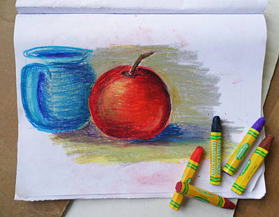 Drawing - Petit Exercice En Pastel L'huile by Ginny Schmidt