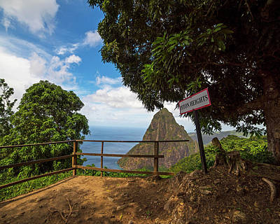 Photograph - Petit Piton From The Tet Paul Nature Trail Saint Lucia by Toby McGuire