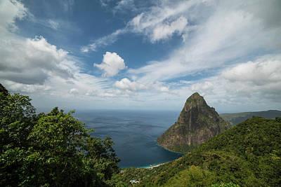Photograph - Petit Piton Saint Lucia Caribbean Big Sky by Toby McGuire