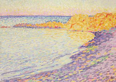 Tropez Painting - Petit Plage, Saint Tropez by Theo van Rysselberghe