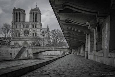 Photograph - Petit Pont - Cardinal Lustiger by Henri Irizarri