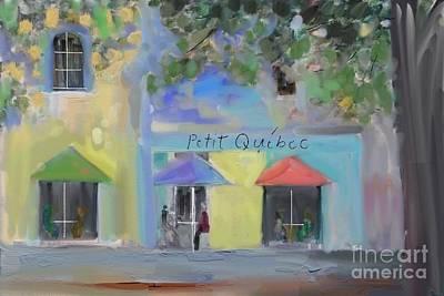 Coffe Digital Art - Vieux Quebec1 by Aline Halle-Gilbert