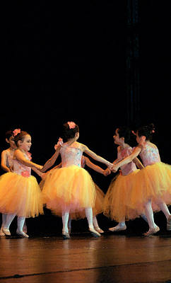 Photograph - Petite Ballerinas In Yellow by Margie Avellino