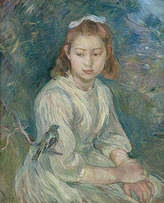 Morisot Berthe 1841-95 Painting - Petite Fille by MotionAge Designs