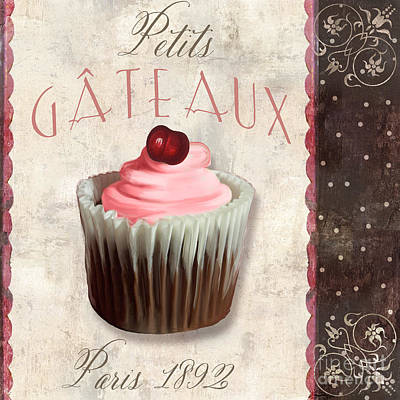 Petits Gateaux Chocolat Patisserie Art Print by Mindy Sommers