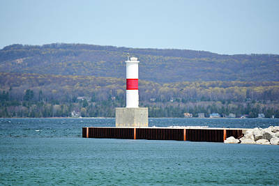 Winter Animals Rights Managed Images - Petoskey PierHead Light Royalty-Free Image by Johnny Yen