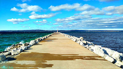 Photograph - Petoskey Pierhead Lighthouse by Michael Rucker