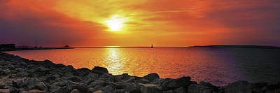 Lake Photograph - Petoskey Sunset by Lee Wolf Winter