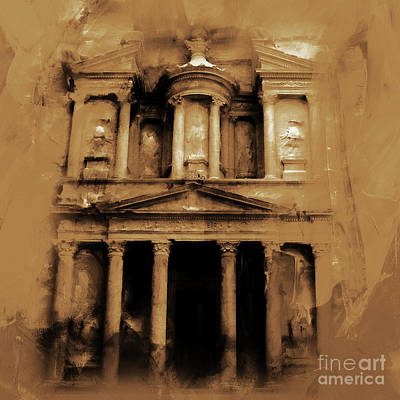 Petra Jordan Art Original by Gull G