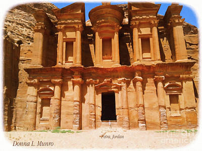 Digital Art - Petra Jordan by Donna L Munro