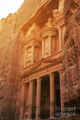 Treasury Photograph - Petra Treasury, Jordan by Jelena Jovanovic