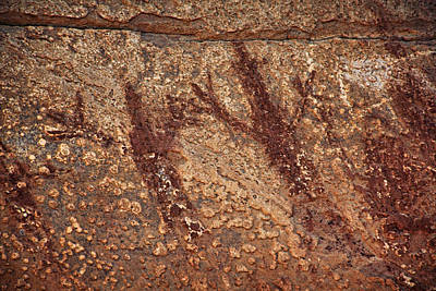 Photograph - Honanki Pictographs3 Txt by Theo O'Connor