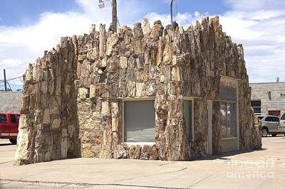 Photograph - Petrified Wood Building by Carole Martinez