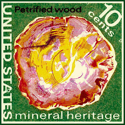 Painting - Petrified Wood by Lanjee Chee