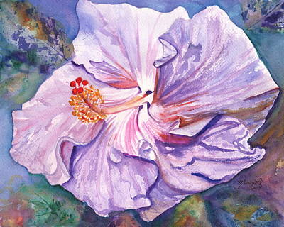 Painting - Petrina's Hibiscus by Marionette Taboniar