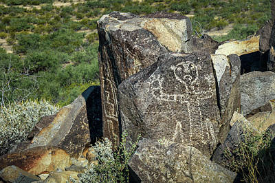Photograph - Petroglyph 10 by James Barber