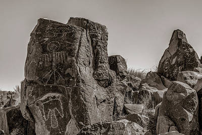 Photograph - Petroglyph 4 Sepia by James Barber