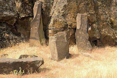 Photograph - Petroglyph  4 by Tom Cochran