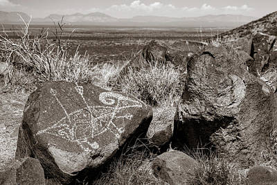 Photograph - Petroglyph 5 Sepia by James Barber