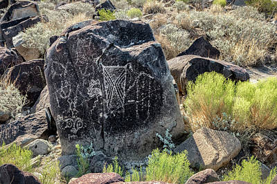 Photograph - Petroglyph 9 by James Barber