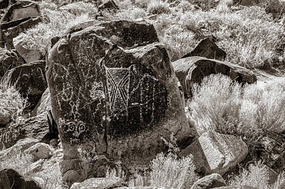 Photograph - Petroglyph 9 Sepia by James Barber