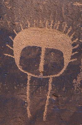 Petroglyph Closeup Art Print by Rich Reid