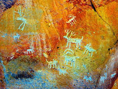 Petroglyph Photograph - Petroglyph Panel Work 12 by David Lee Thompson
