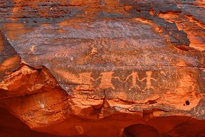 Photograph - Petroglyphs 1 by Kathryn Meyer