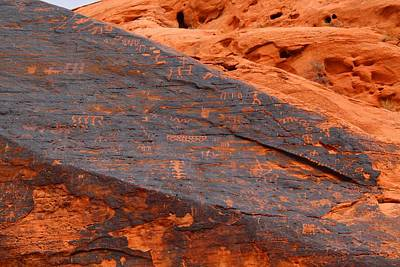 Photograph - Petroglyphs 2 by Kathryn Meyer