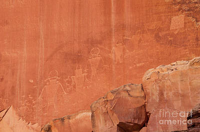 Photograph - Petroglyphs In Capital Reef by Cindy Murphy - NightVisions