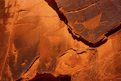 Photograph - Petroglyphs In Monument Valley Navajo Tribal Park by Lon Dittrick