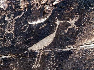 Petroglyphs In Petrified Forest Art Print by Jeanette Oberholtzer