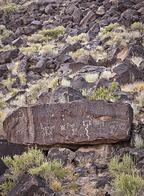 Photograph - Petroglyphs Vi - Albuquerque - New Mexico by Steven Ralser