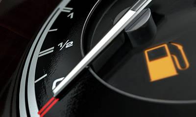 Crisis Digital Art - Petrol Gage Empty by Allan Swart