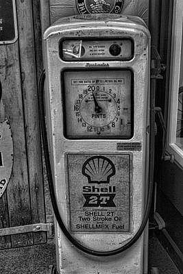 Petrol Pump Art Print by Martin Newman